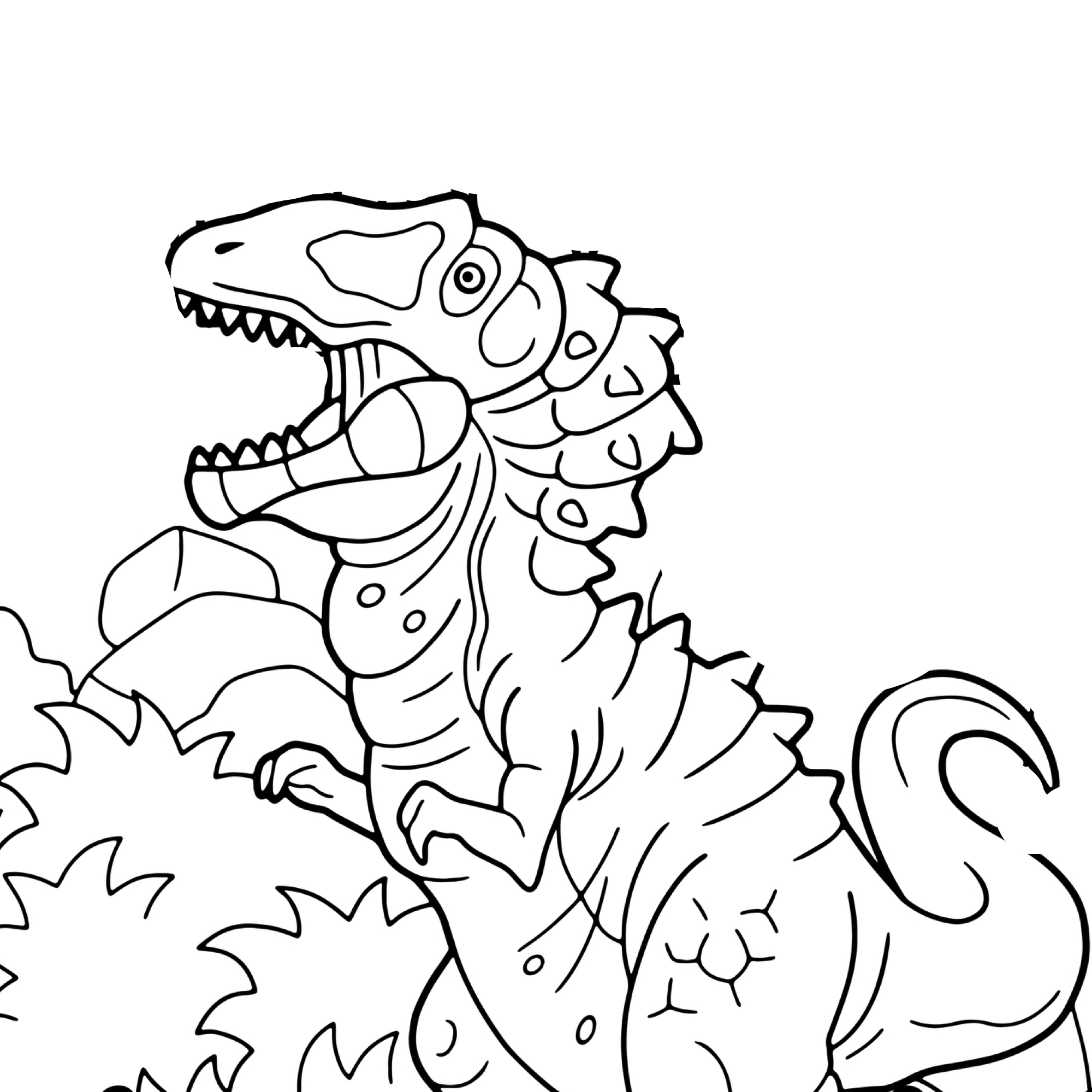 carcharodontosaurus coloring page