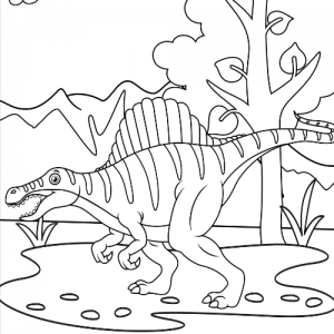 Spinsosaurus Coloring Pages